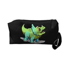 Triceratops Baby Makeup Bag Zipper Organizer Case Bag Cosmet