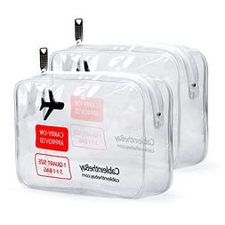 Cableinthebay TSA Approved Clear Travel Toiletry Bag|Clear T