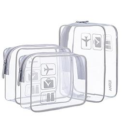 ANRUI Clear Toiletry Bag TSA Approved Travel Carry On Airpor