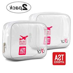 TSA Approved Quart Size Toiletry Bag - Clear for Travel Size