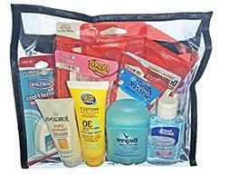 Travel Size Women's Toiletries With Essential Items And Clea