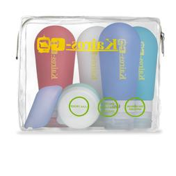 KAIROS-GO Ultimate 6-Piece Travel Toiletry Bottles Set –4x