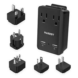 TESSAN World Travel Adapter Kit, Travel Power Adapter 2000W,