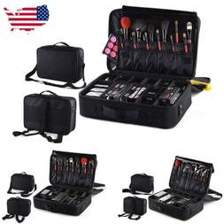 US Professional Makeup Bag Cosmetic Case Storage Handle Trav