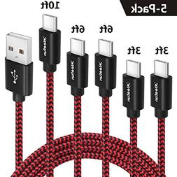 USB C Cable , Cleefun Fast Charge Nylon Braided Type C Charg