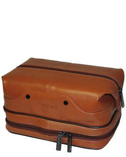 Dopp Men's Veneto Travel Kit with Bonus Items-Leather, Tan