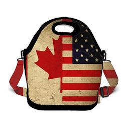 POP MKYTH Vintage American and Canadian Flags Insulated Neop