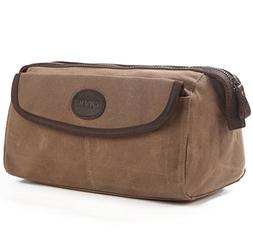 On Sale - S-ZONE Mens Vintage Leather Waxed Canvas Travel To