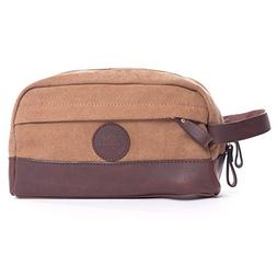 Vintage Toiletry Bag Dopp Kit - Genuine Leather And Durable