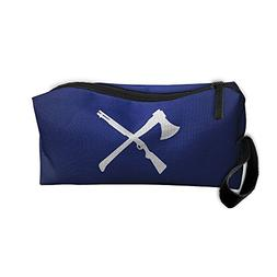GNMB Voilence Of Axe And Rifle Handaes Portable Toiletry Cos