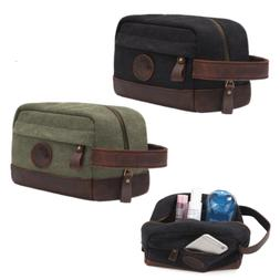 Waterproof Canvas Travel Toiletry Bag Shaving Dopp Kit Men S