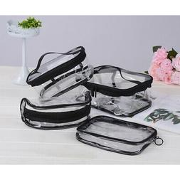 Waterproof PVC Zip Pouch Kit Transparent Bags Travel Cosmeti