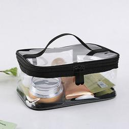 Waterproof PVC Zip Pouch Kit Transparent Clear Travel Cosmet