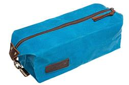KUBO Waxed Canvas Toiletry Bag or Dopp Kit Bag - Waterproof,