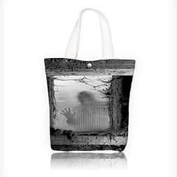 Women's Canvas Tote Bag, Zombie Outside from Spiderweb Dirty