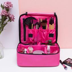 Women Makeup Bag Cosmetic Case Storage Handle Travel Organiz