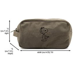 WW1-Pilot Snoopy Canvas Shower Kit Travel Toiletry Bag Case,
