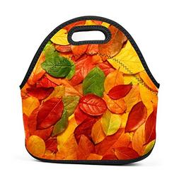 Yellow Fall Leaves Lunch Bag Multifunction Bento Pouch Stude