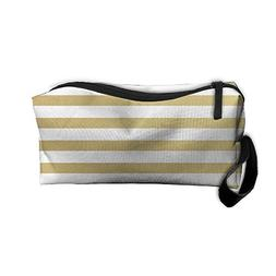 Yellow Stripes Makeup Bag Zipper Organizer Case Bag Cosmetic