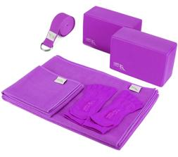Go Go Active Yoga Accessories Set - Includes 2 Yoga Blocks,